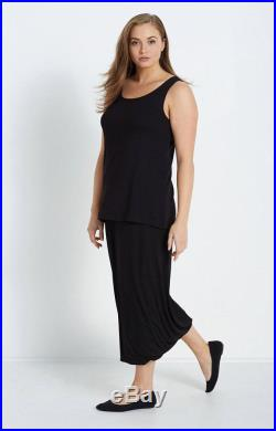 Jersey Skirt with Twisted Hemline in Black