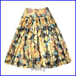 KENZO Vintage 1980s 'Kenzo Jungle' sheer floral print skirt with yoke Made in France