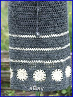 Knitted Gray skirt Chunky Cable Pencil Skirt Womens Skirt Clothing Bohemian Cableknit Kneelength Skirt Mothers Day Gift For Her
