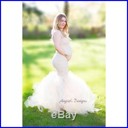 LAVENDER Purple Tulle Dress Gown Fluffy Flowy Tulle Maternity Pregnancy Photo Special Ocassion Photo Baby Shower Dress