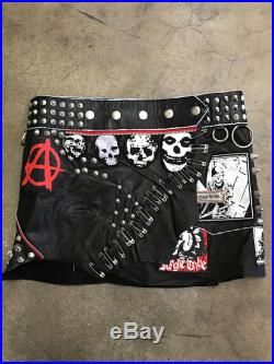 LIMITED EDITION PuNks NoT DEad Leather Anarchy Ultra Mini Skirt ONLY 2 Exist
