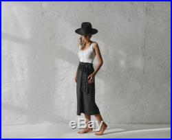 LINEN belted skirt LOOSE one size GREY gray wrap midi skirts