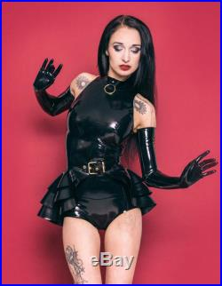 Lady Lucie Latex 3 layer belted triple Peplum