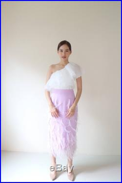 Lala ostrich feathers skirt