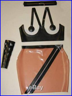 Latex Zip Skirt and Under Cup Bra