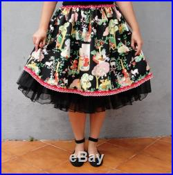 Little Red Riding Hood Skirt, Bad Wolf, Grandma's Cottage, Fairy tale Clothing size 10 12 EU size 40 42