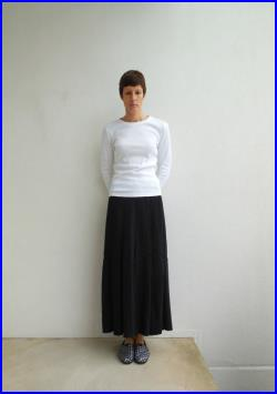 Long Black T Shirt Skirt, Straight , Recycled, Upcycled, Summer, Spring, Cotton, Fashion, Soft, For Her, ohzie