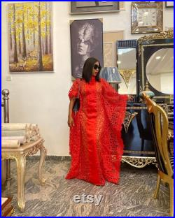 Luxury African Kaftan dress, African lace gown African dresses for women, Ankara dresses, Ankara lace gown Ankara Kaftan gown, African dress