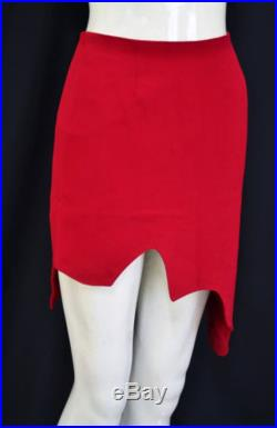 MOSCHINO sale from 250 Rare Cheap and Chic Red Zigzag Jagged Sexy Skirt US6