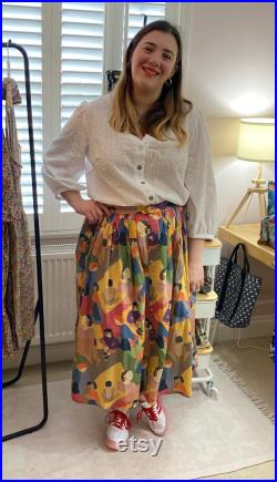 Made to order button front Brockwell skirt