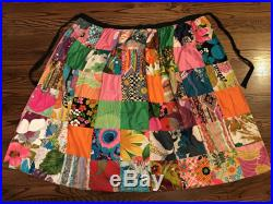 Mama Maui Maxi Skirt Rare 1960s Vintage Hawaiian Hippie Tropical Colorful Patchwork Psychedelic Pattern Wrap Long Mod Gypsy Skirt by Alice