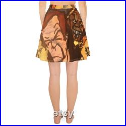 Metallica Skater Skirt, Orjinal Watercolor Painting Limited Edition Collectible Metallica Skater Skirt from ilker orta , Christmas Gift