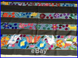 Mexican Hand embroidered and handwoven textile