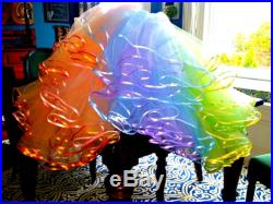 Miss Dulcie's Level 3 Petticoat Extra fullness rainbow tulle in your choice of colors sewn in a row matching ribbon