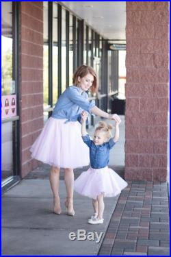 Mommy and me tulle skirt outfit, matching mommy and me tutus