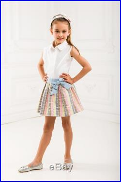 Mother and Daughter Matching Outfit Jacquard Matching Skirt Set with Denim Mother and Daughter Striped Skirts Set of Two Denim Skirts