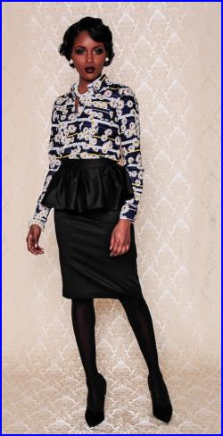 NEW The Kait Peplum Skirt (Assorted Color Options)