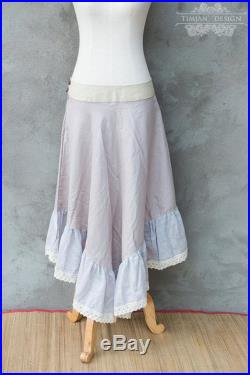 NYMPF SKIRTS Many colors Linen Bohemian Boho Hippie Gypsy Steampunk Burning man Tribal Steam punk Plus size Witch in stock