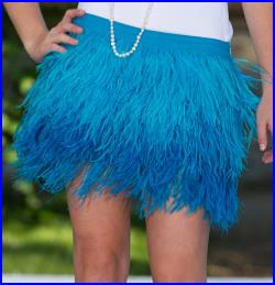 On HOLD for NATASHA 1st Payment Custom Order Full Length High Waisted Ostrich Feather Skirt in Cream