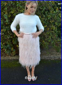 Ostrich feather skirt in multiple lengths Ready-to-Wear 'Maxime' fashion separates. Choice of color. Alternative bride or costume party