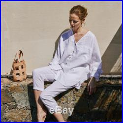 Oversized linen shirt LIVORNO loose linen shirt available in 34 colors