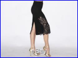 PUGLIESE Tango Skirt with lace Elegant black and black Chantilly lace
