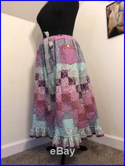 Pastel chevron ombre patchwork unicorn ombre skirt with 2 large pockets Mama hippie hippy Grateful Dead spinner phish peasant handmade