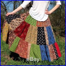 Patchwork skirt for all sizes, custom made skirt, handmade, juniors skirt, womens skirt, plus size skirt, unisex skirt, indian prints