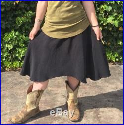 Perfect Storm Heavy Weight Hemp French Terry Cinch Skirt Shungite Infused For EMF Protection Custom Made To Order