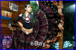 Persian Padma Special Limited Edition 25 Yard Tribal Bellydance Gypsy Block Print ATS Skirt