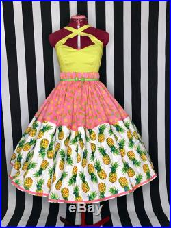 Pineapples galour 50s style pinup skirt