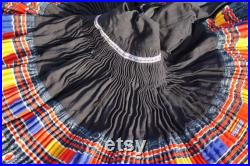 Pleated skirt Hmoob 2103 handmade cotton linen hmong tribe embroidery fashion skirt bohemian quilting