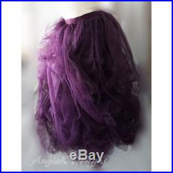 Plum X-FULL Fluffy Striped Lined Tulle Pregnancy Maternity Photo Prop Special Occasion FamilyPhoto Baby Shower Skirt