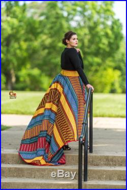 Priceless African Print Skirt, African Wedding, African Dress Skirt, African Prom Dress, African Skirt, Ankara High Low Skirt, Ankara Skirt