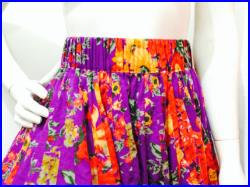 Purple Floral Skirt, Madame Hall's Long Very Full Maxi Skirt Coverered in Flowers Womens Feminine Gypsy skirt in Cotton