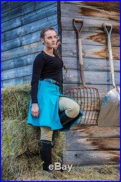 Rain Riding Skirt Waterproof Equestrian Outerwear Tongass Short Style Gifts for Horse Lovers Alternative to Rain Pants