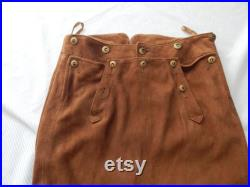 Ralph Lauren vintage suede skirt, small, lined, front button up, size 2