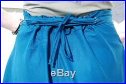 Raw Silk A-Line Skirt with Lacing Closure