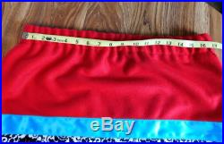 Red Wool Ribbon Skirt with Eagle