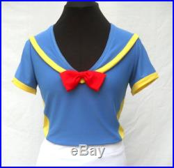 Reserved order for Teresa Donald Duck inspired running outfit (skirt with capris and zipper)