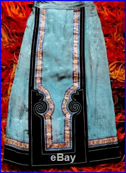 SALE 1800s Embroidered Chinese Silk Wedding Skirt Recycled into Modern Skirt