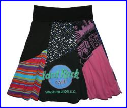 SALE Jimi Hendrix Rock and Roll Upcycled Hippie Skirt Women's Small Medium recycled t-shirt clothing from Twinkle