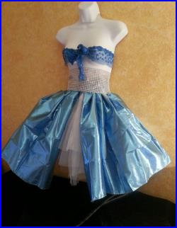 Sexy 3pc Ice Blue Lame' Tulle Skirt and Diamond Look Bling Belt Lace Bralette Bandeau Top Set Party Bridal Burlesque Belly Dance Costume Prom