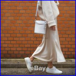 Silk midi Slip skirt ivory Silk Slip long fall trends looks fashion ideas Silk midi A-line skirt bottoms Real Pure Mulberry Gift for her