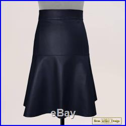 Skirt in genuine leather