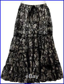 Special Limited Edition Black DeLuxe 25 Yard ATS Tribal BellyDance Banjara Gypsy Heavy Embroidery Skirt