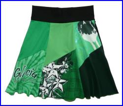 St. Patrick's Day Boho Chic Hippie Skirt Women's Medium Large upcycled t-shirt clothing from Twinkle