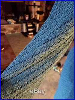 Steel blue skirt and sweater set.