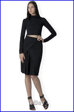 The Chloe layered pencil skirt in bamboo and organic cotton