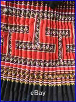 This save for Tayder customer)Vintage tribal white Hmong women skirt in Mu Cang chai village in the north of Vietnam